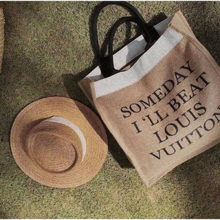 Túi cói someday 2 lớp lót hàng quảng châu, nút bấm , khóa kéo, 2 lớp bọc bên ngoài chuẩn loại 1, túi đi biển