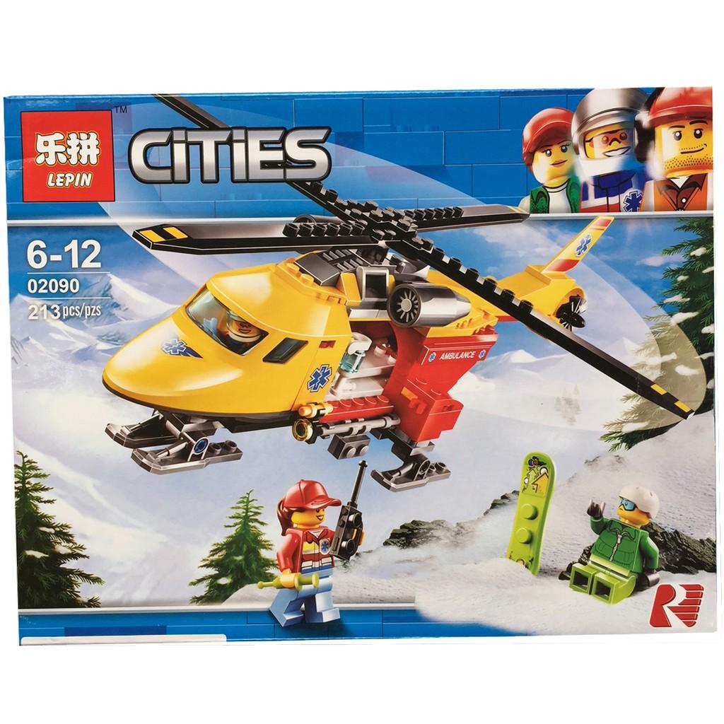 Bộ Xếp hình Lego Cities - Máy bay cứu hộ trên núi tuyết 213 pcs