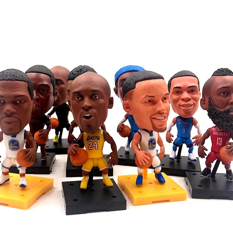 Basketball NBA James Kobe Curry Eyebrows Brother Owen Harden Lun Nader Doll Ornaments