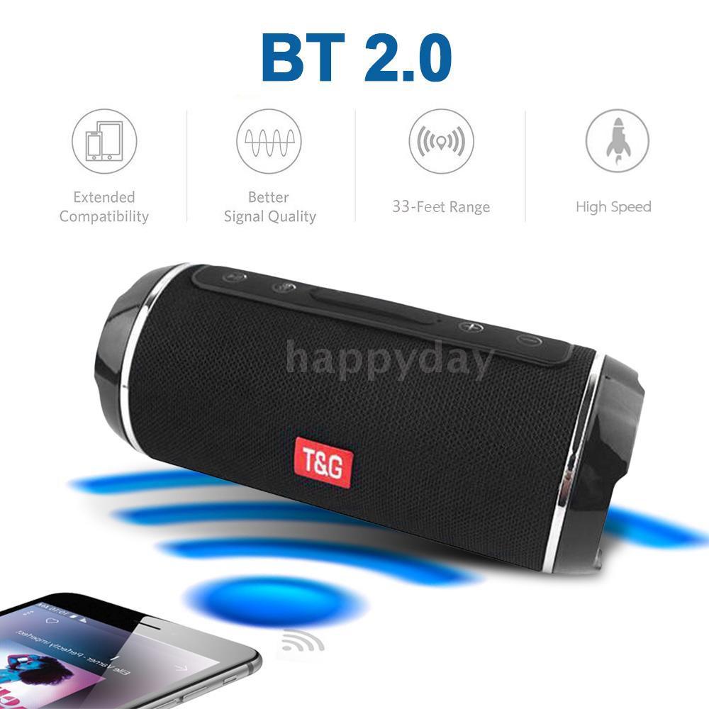 Loa Bluetooth Không Dây 10w T & G 116 Và Phụ Kiện