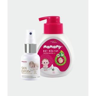 Combo 1 chai bọt rửa tay thiên nhiên Mamamy 400ml 1 chai xịt trị hăm Mamamy Skin Expert 50ml