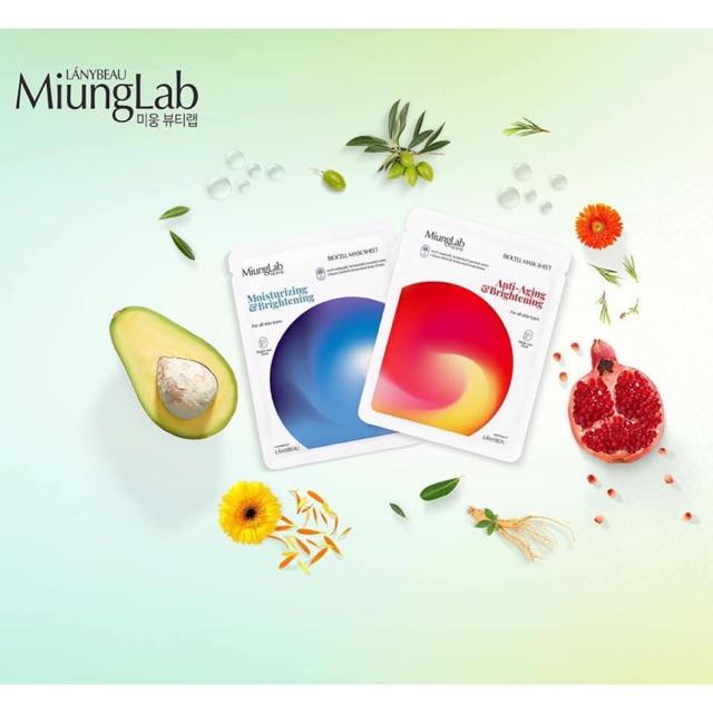 Mặt nạ sinh học Miunglab mẫu mới ( Mặt nạ Miung Lab mới hộp 7 miếng )