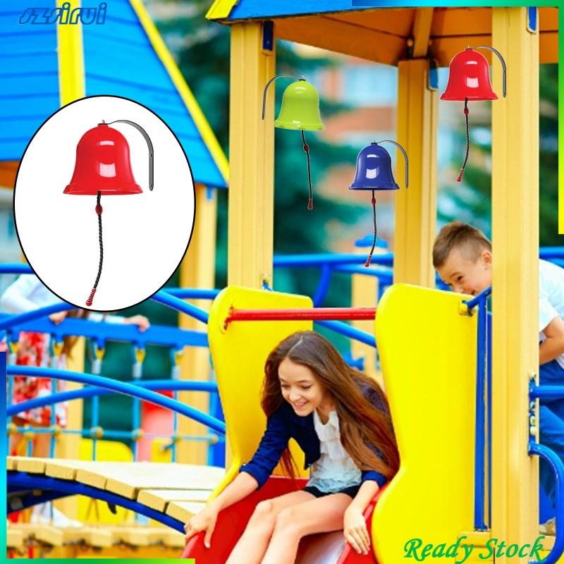 [Ready Stock] Toys Bell Playground Hanging Bell Swing Set Plastic Playset Backyard Ages 3+