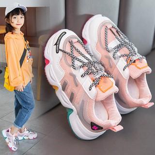 Giày Thể Thao Thời Trang Xuân Thu Dành Cho Bé Gái 2021