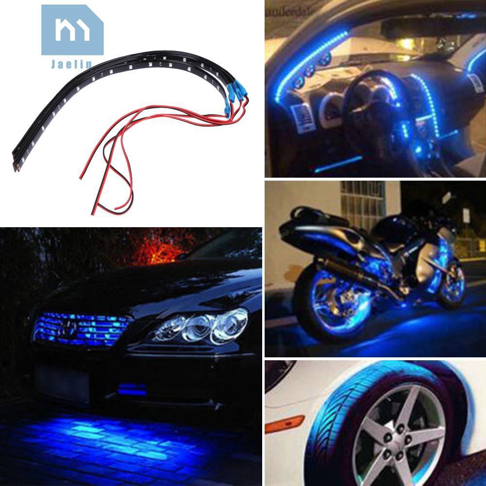 Bộ 4 dải đèn LED chống nước 30cm 15 bóng 12V cho xe hơi