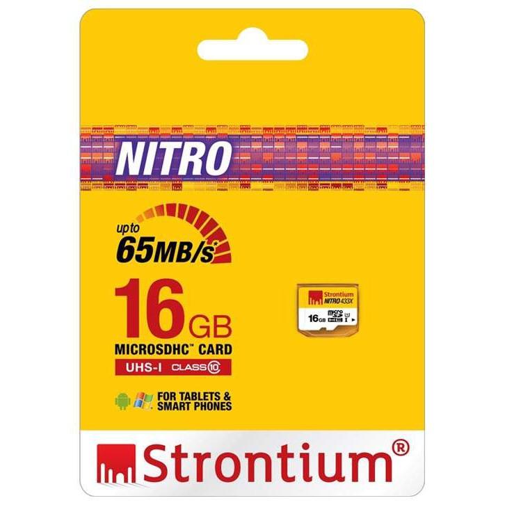 Thẻ Strontium 16Gb nitro 433X tốc độ 95Mb bảo hành trọn đời