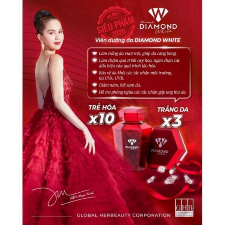 Viên Uống Trắng Da DIAMOND WHITE NGỌC TRINH - Trắng Da gấp 3 lần Beauty Plus ❤ Chính Hãng❤