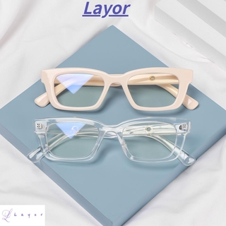 💜LAYOR💜 Fashion Anti-blue Light Glasses Blue Light Blocking Vintage Eyeglasses Square Frame Eyewear Vision Care Men Women Radiation Protection Retro Classic Computer Goggles/Multicolor