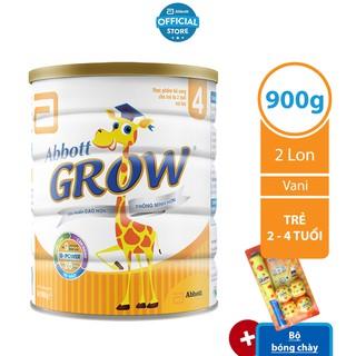 [Tặng Bộ bóng chày] Bộ 02 Lon Sữa Bột Abbott Grow 4 - 900g Lon