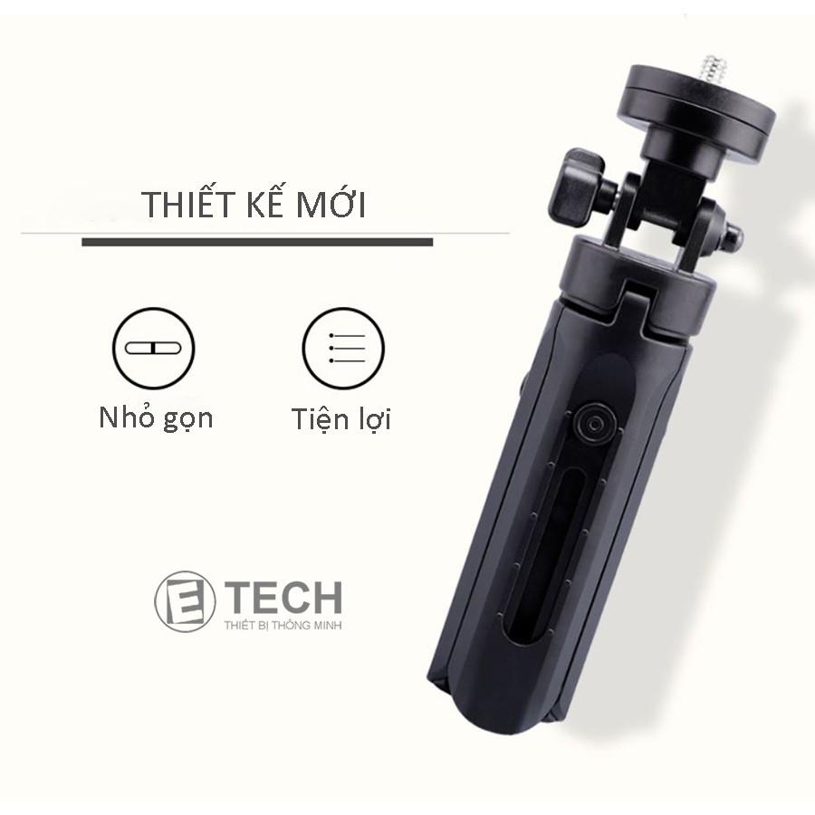 Tripod mini 3 chân kiêm giá đỡ cho điện thoại selfie, livestream