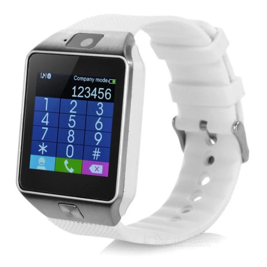 Đồng hồ điện thoại tiếng Việt đa chức năng DZ-09 ( trắng )