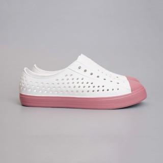 [Siêu rẻ] Giày sục urban nữ siêu nhẹ - Trắng đế hồng thumbnail