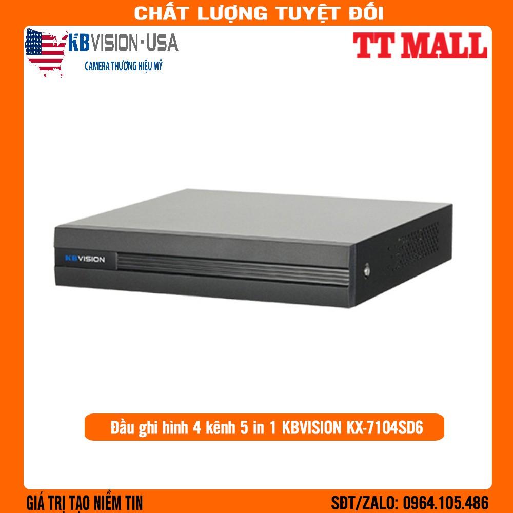ĐẦU GHI 4 kênh 5 in 1  KBVISION KX-7104SD6 - Chính Hãng 100%- Bảo hành 2 năm .