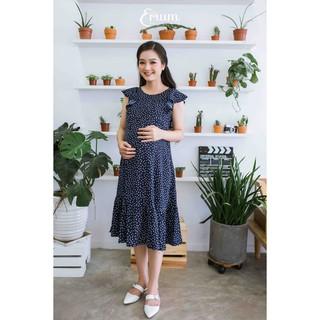 Đầm bầu nhún bèo bi xanh đen Emum thumbnail