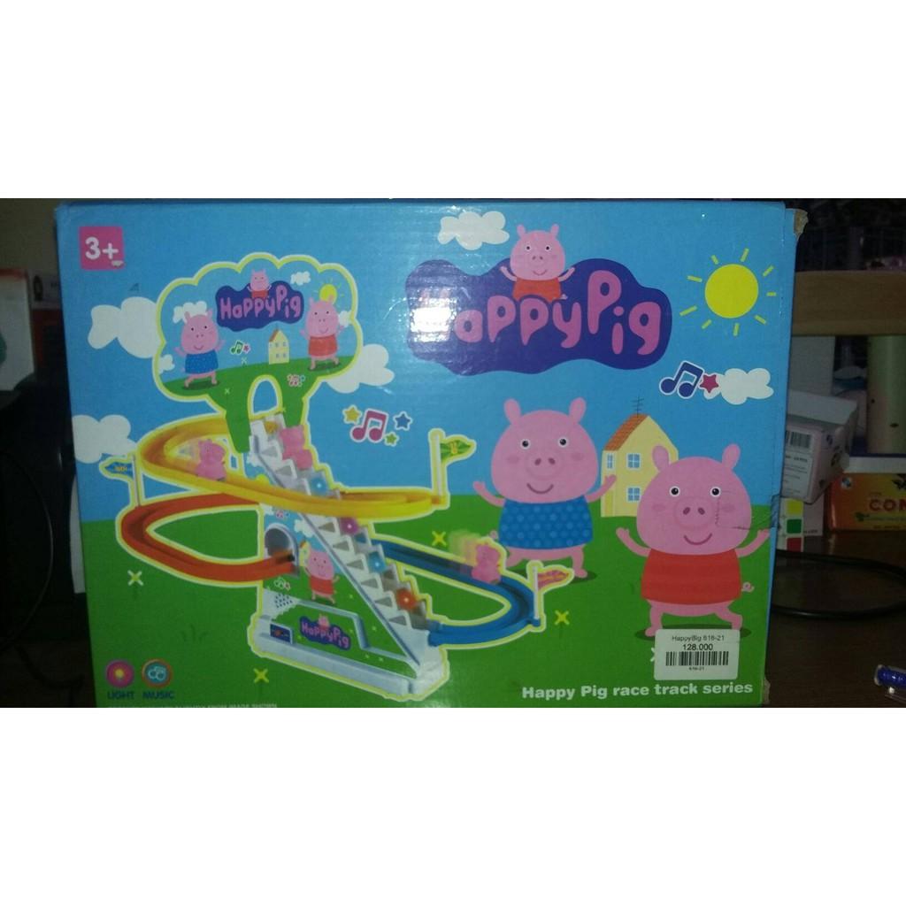 Bộ đồ chơi cầu trượt leo thang cho bé phiên bản Heo Peppa ngộ nghĩnh