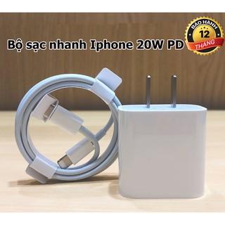 Sạc nhanh iphone 20W, sạc nhanh cho IP 12,11,X,8,7,6. Công Nghệ PD sạc nhanh không nóng máy- BH 12 tháng