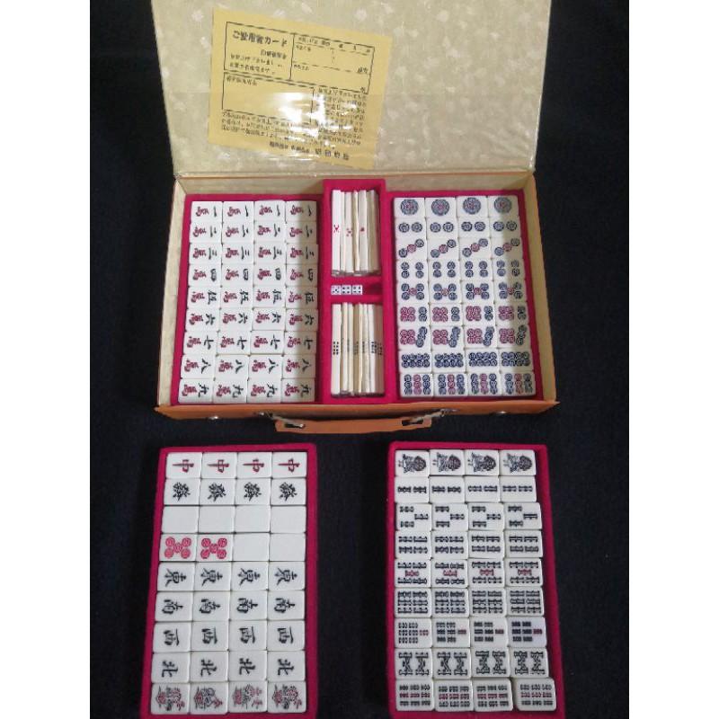 Bộ mạt chược nội địa Nhật mặt nhựa, số 08, size 25, 2nd