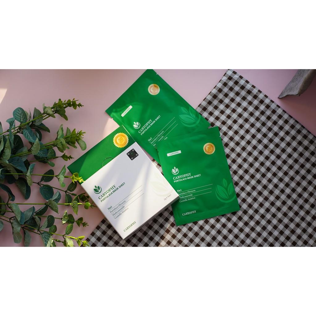 Hộp 10 miếng mặt nạ trị mụn Caryophy Portulaca Mask Sheet 3IN1 22g x 10