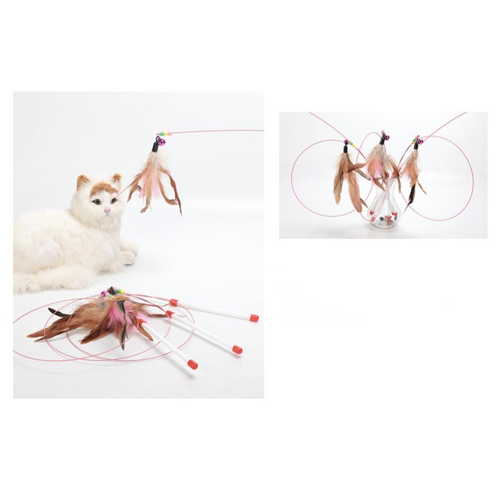 Cần câu mèo, cần câu lông vũ đồ chơi cho mèo cưng giá siêu rẻ