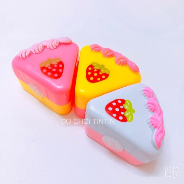 [siêu ĐẸP - tặng BÚP BÊ] Đồ chơi khay bánh kem màu Hồng