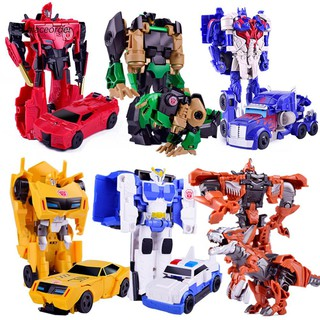 PEOD_Children Kids Boy Transforming Racing Car Model Deformation Robot Toy Gifts