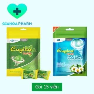 Kẹo ngậm thảo dược Eugica Candy giúp giảm ho, giảm đau rát họng (Gói 15 viên) thumbnail