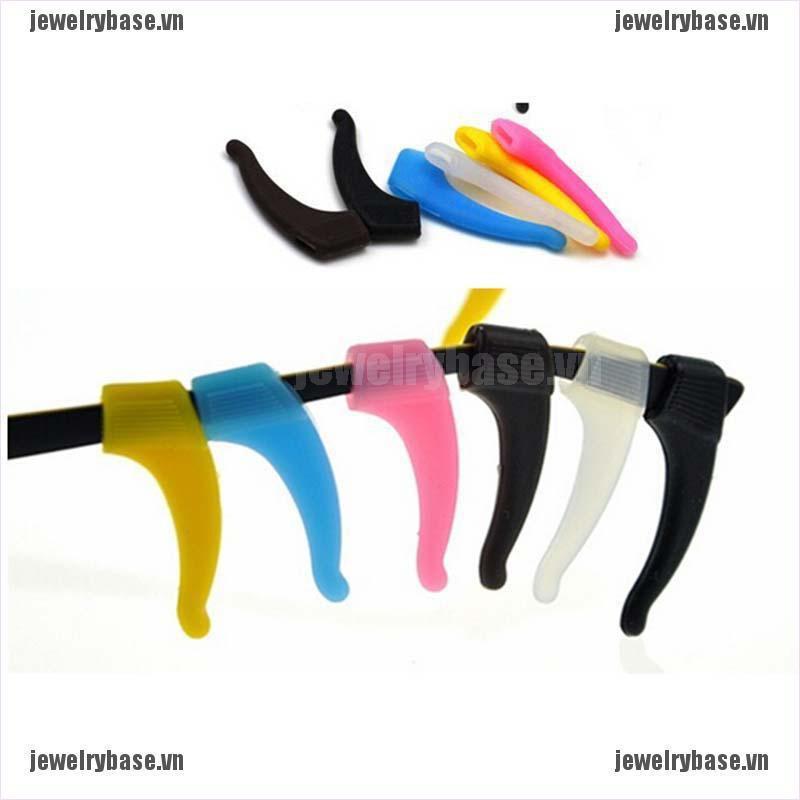 [Jewelry] Silicone Glasses Ear Hooks Tip Eyeglasses Grip Anti Slip Temple Holder [Basevn]