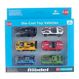 Bộ 6 xe mô hình kim loại (1 64) TNA TN-1021A