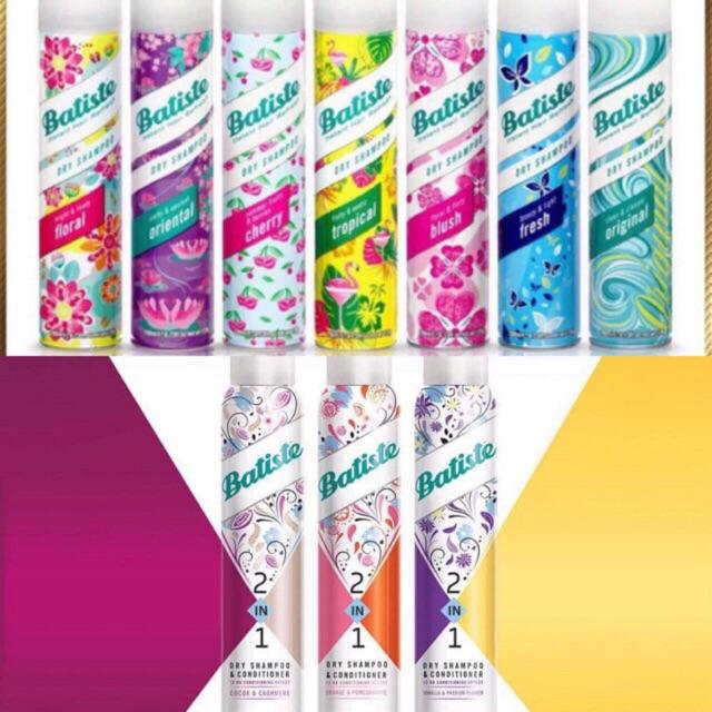 Dầu gội khô Batiste Dry Shampoo 50 ml và 200 ml/ Batiste Invisible 2 in 1 gội kèm xả
