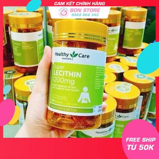 [SALE] Mầm đậu nành Úc Healthy Care Super lecithin 1200mg – 100 viên