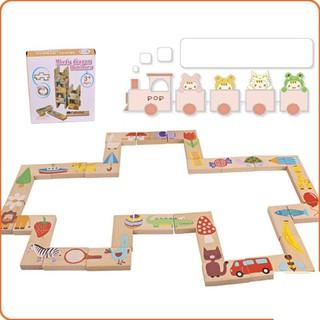 Đồ chơi Domino gỗ xếp hình 28 miếng