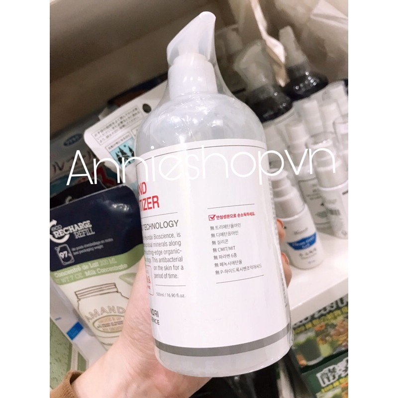 Gel rửa tay khô HAND SANITIZER - Huyndai Bioscience 500ml