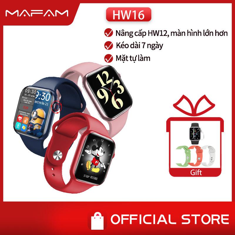 SIÊU HOT đồng hồ thông minh gọi điện chính hãng HW16 44mm  IWO Smart Watch tràn viền 1.72'' HD đồng hồ thông minh nữ chống nước thể thao smartwatch Thay hình nền được updrage hw12 PK W46 W56 X16 AK76 W66 T500 W26