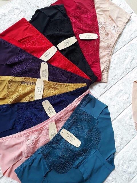 10 quần lót nữ ren phối đúc lạnh- quần spring trơn 8206 | WebRaoVat