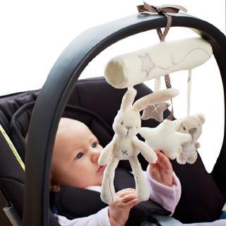 Rabbit baby hanging bed safety seat plush toy Hand Bell Multifunctional Plush