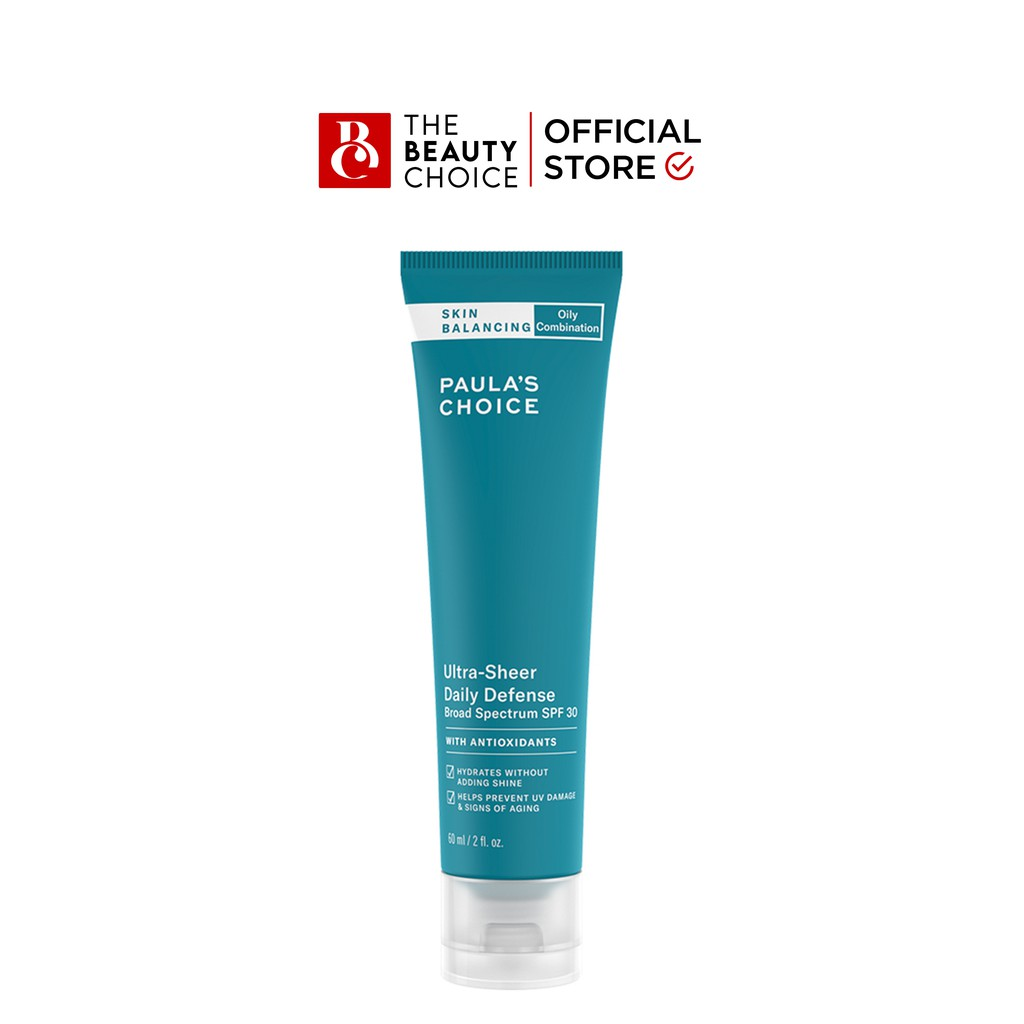 Kem dưỡng chống nắng Paula's Choice Skin Balancing Ultra-Sheer Daily Defense Broad Spectrum SPF 30 (60mL)