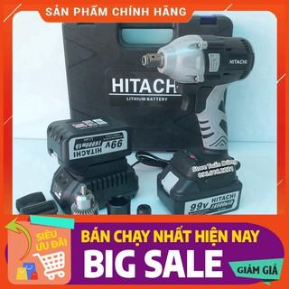 Máy siết bulong Hitachi 99vV 2 pin 15000mAh không chổi than – Tặng bộ phụ kiện [CAM KẾT CHÍNH HÃNG]