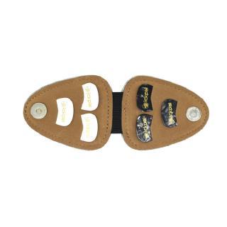 JX Pickpal Guitar Pick Holder Leather Guitarra Plectrum Case Bag Guitar Accessories with 6 Guitar