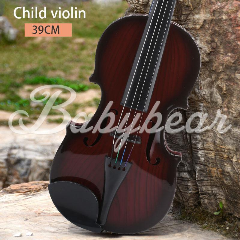 Children'S Violin Kids Violin Studnets Acoustic Violin 39CM Portable Practical Toys Early Education