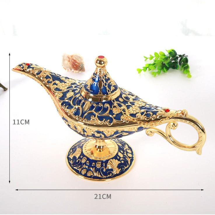 Bình đựng rượu trang sức hình đèn thần Aladdin - vật trang trí phong thuỷ may mắn cho gia chủ
