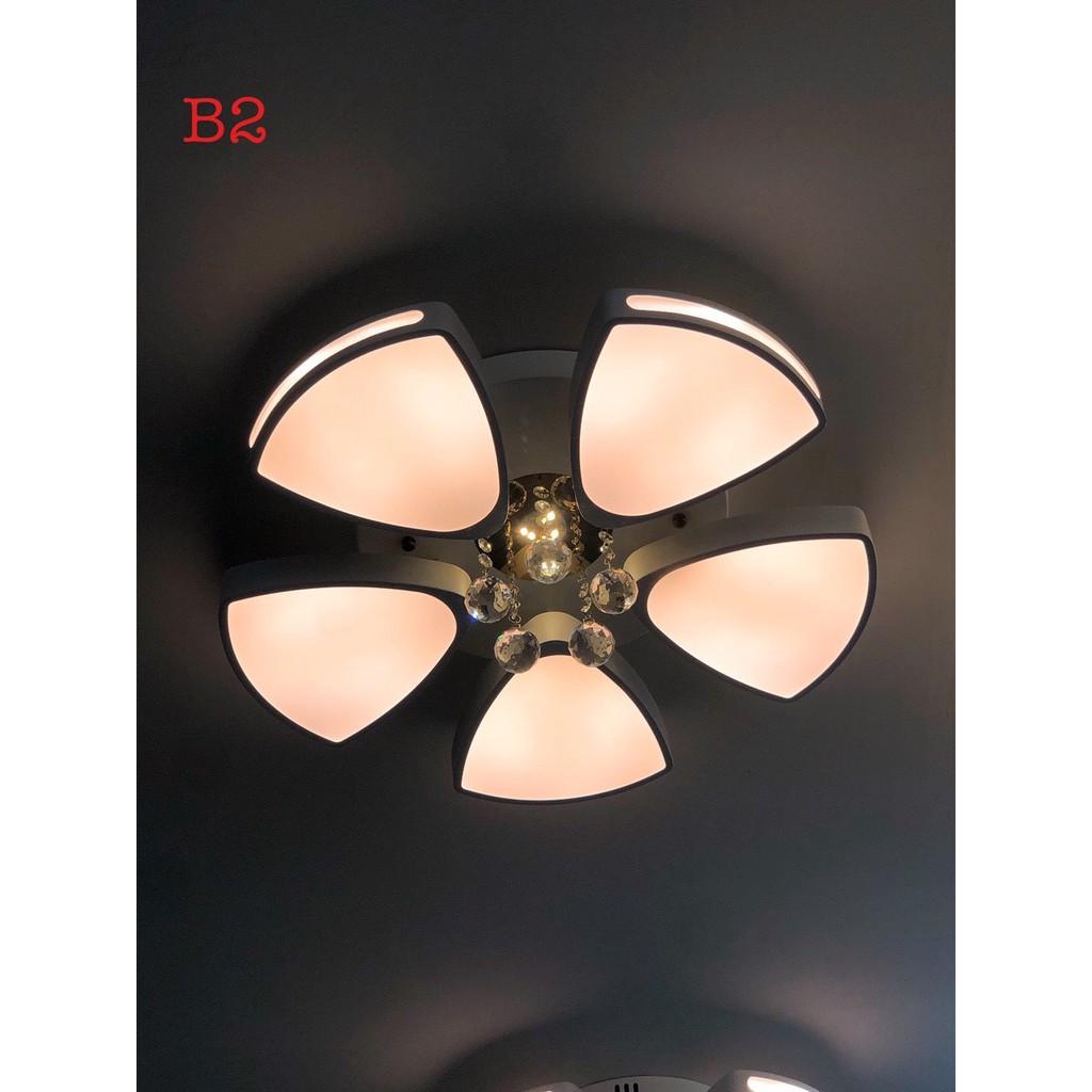 Đèn trần MONSKY led mâm 3 chế độ ánh sáng có điều khiển từ xa LUMIXA trang trí phòng khách, phòng ngủ hiện đại
