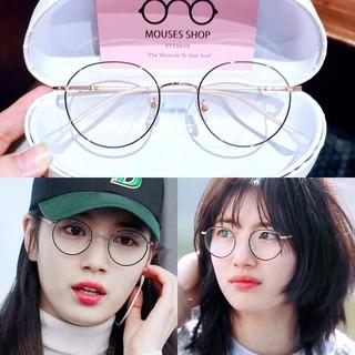 [Mã SKAMSALE8 giảm 10% đơn từ 200K] Kính mắt Suzy 29120_kính mắt tròn nhỏ_gọng kính kim loại