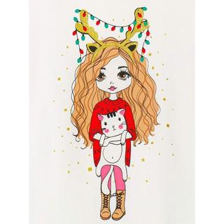 Áo thun bé gái ngắn tay Holiday Girl M.D.K