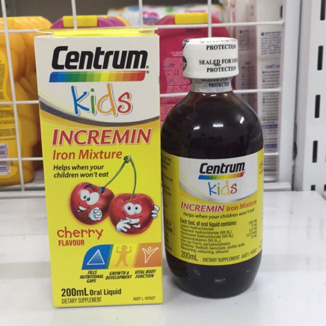 Siro Cho Trẻ Biếng Ăn Centrum Kids Incremin Iron Mixture Của Úc - 2969503 , 1237893794 , 322_1237893794 , 280000 , Siro-Cho-Tre-Bieng-An-Centrum-Kids-Incremin-Iron-Mixture-Cua-Uc-322_1237893794 , shopee.vn , Siro Cho Trẻ Biếng Ăn Centrum Kids Incremin Iron Mixture Của Úc