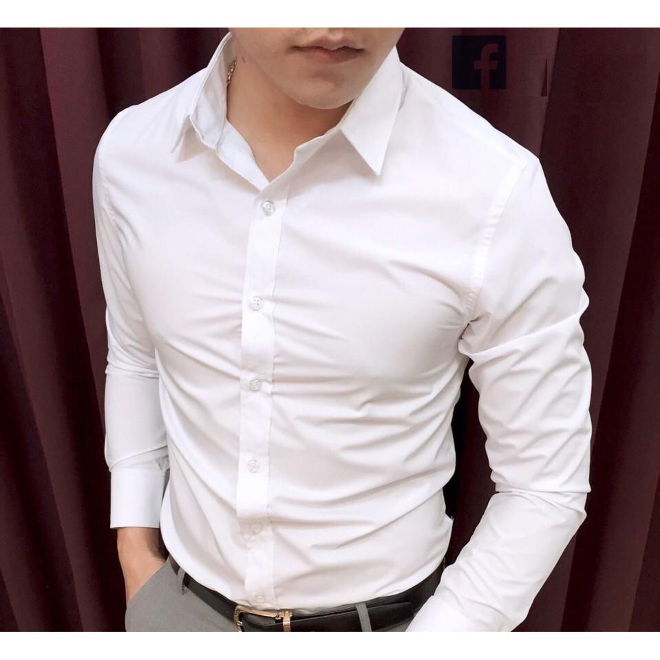 Combo 3 áo somi nam Cotton lụa - Sơ mi dài tay- Sơ mi đẹp, phòng cách Hàn Quốc Dài tay