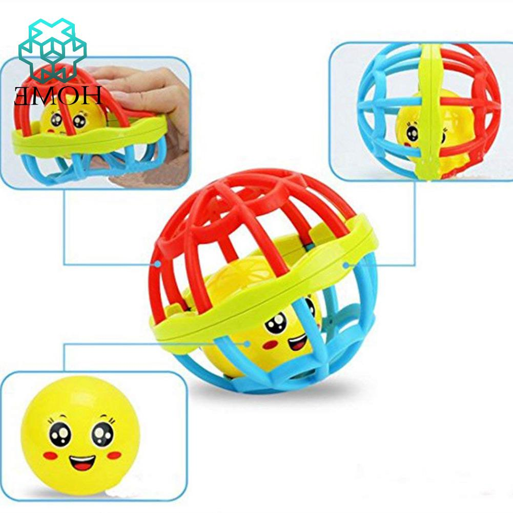 ♚Baby children's toys silicone flexible ball catching ball hand bell rock ball