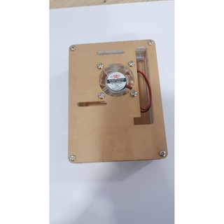 Vỏ hộp mica,quạt tản nhiệt dành cho Raspberry Pi 4