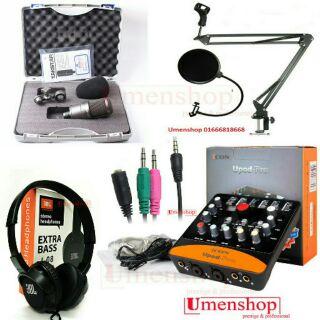 Combo livestream thu âm mic SM8B + Sound card ICON UPOD PRO