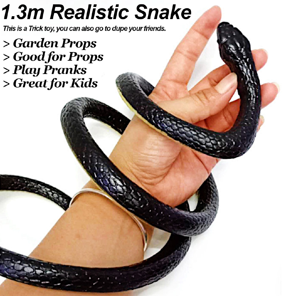 130cm Realistic Snake Rattlesnake Trick Terrifying Mischief Rubber Scary Toys