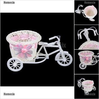 Chậu cắm hoa hình xe đạp ba bánh sáng tạo dùng trang trí nhà